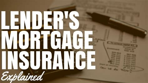Lenders mortgage insurance works quite differently from most other types of insurances. Lender's Mortgage Insurance Explained - YouTube
