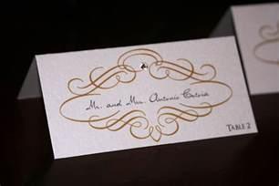wedding place cards gold scroll wedding place cards chic shab design studio inc