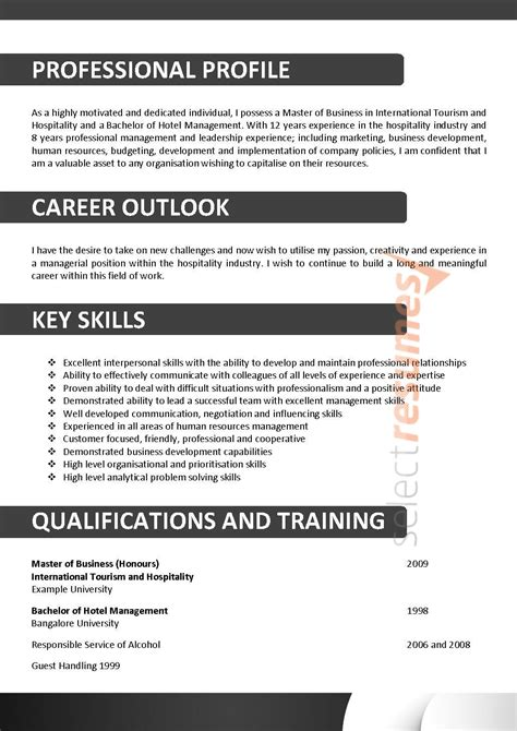 Plumbing Resume Template Australia by Executive Design 108 Select Resumes