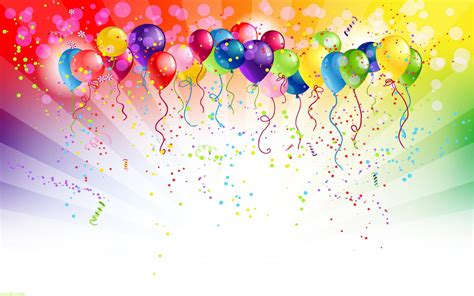 happy birthday poster template birthday balloons background