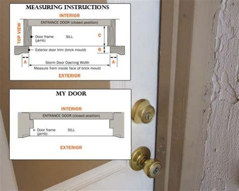 Installing Storm Door On Metal Casing And No Brick Mould