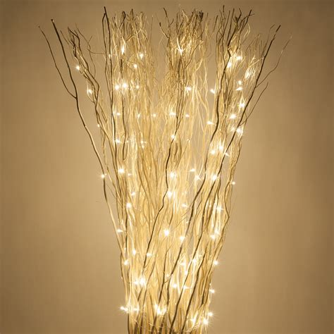Light Up Branches by White Free Standing Willow Lighted Branches With Warm