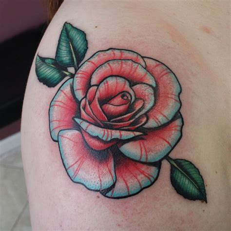 New School Tattoo Rose  Google Zoeken   Cute Tattoos