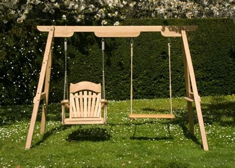 Swing For Backyard Adults - wooden garden swings for children and adults sitting