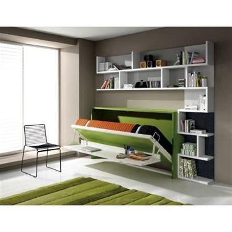 lit bureau escamotable armoire lit escamotable fleet avec bureau 90x190cm achat