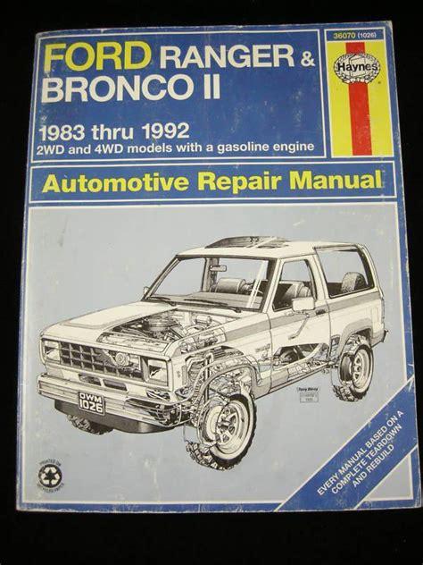find haynes   ford ranger bronco ii repair