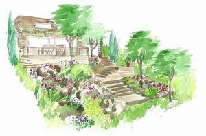 conseils de paysagiste un jardin en pente With escalier jardin en pente 9 escalier de jardin mode demploi et conseils