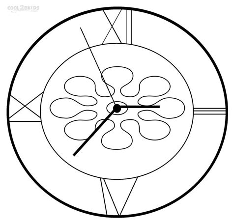 clock coloring page printable clock coloring pages for cool2bkids