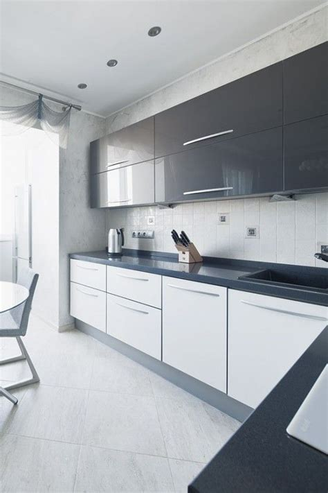 Gloss Kitchen Decor Ideas by Grey And White Gloss Kitchen By Boconcept Designers