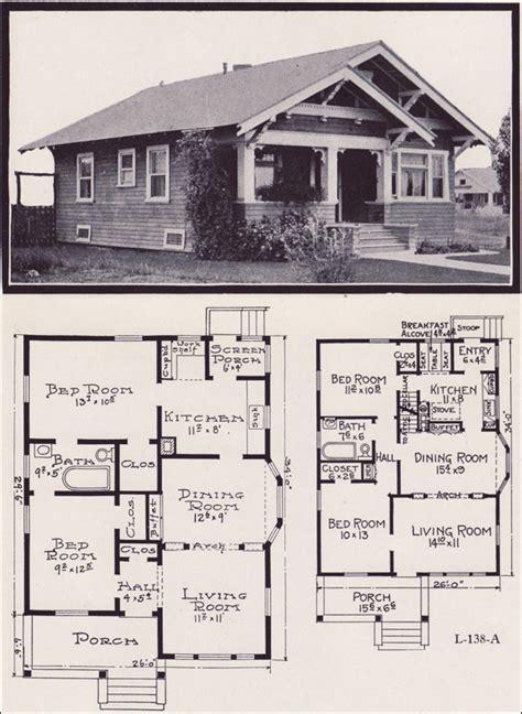 craftsman style floor plans bungalow 1920s craftsman bungalow house plans 1920 original