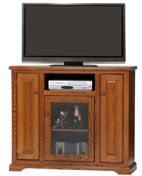 oak deluxe tall tv stand oak factory outlet