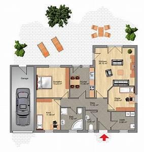 Bungalow grundrisse 6 zimmer mit garage ihr traumhaus ideen for Bungalow grundrisse mit garage