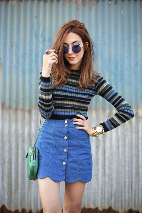 6 Denim Skirt Outfits to Channel Your Inner 90s Babe u2013 Glam Radar