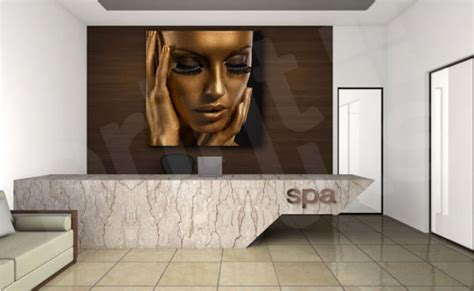 Golden Beauty Fashion Spa Modern Face Canvas Art Poster