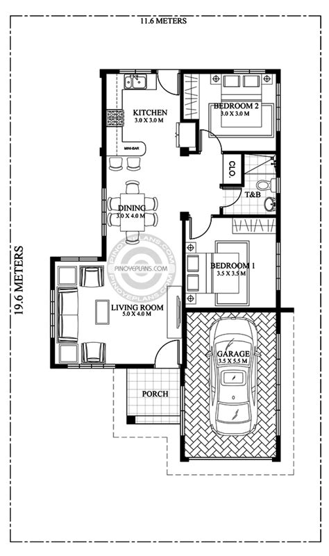 pia confidently beautiful  bedroom house plan pinoy eplans modern house designs small