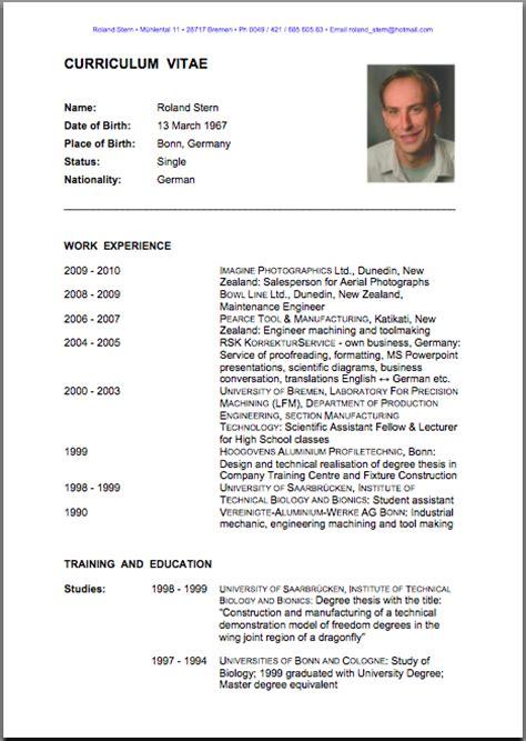 Curriculum Vitae Translation by Curriculum Vitae Images