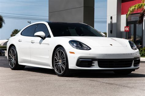 Automatic 2018 porsche panamera turbo s with 21 inch wheels, , , brown interior, white exterior. Used 2018 Porsche Panamera 4S For Sale ($89,900) | Marino Performance Motors Stock #134164