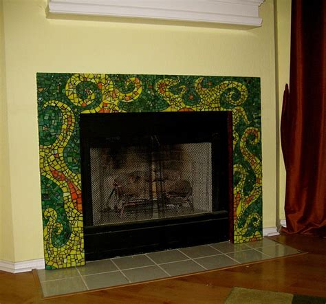 17 best images about mosaic fireplaces on