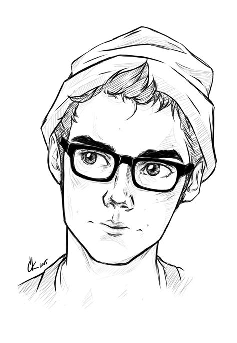 cute boy glasses art character inspo inspiration