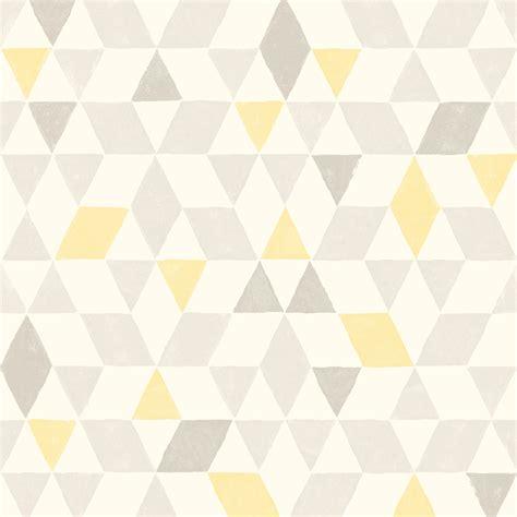 soft lemon geometric wallpaper departments diy  bq