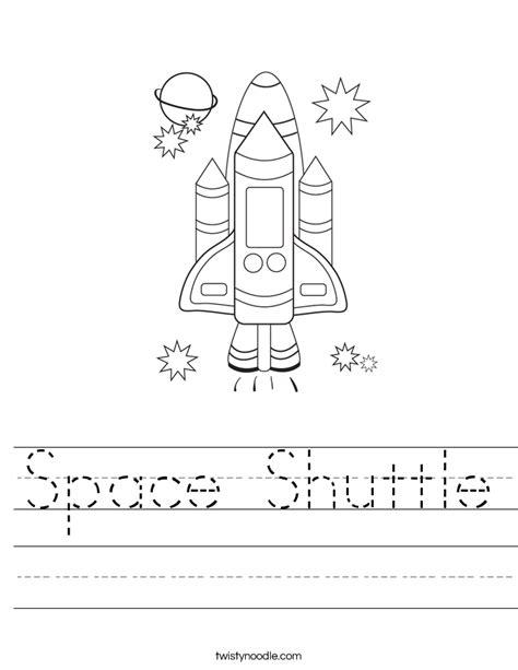 space shuttle worksheet twisty noodle