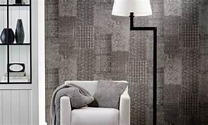 flicken tapete patchwork von flamant by arte 3556 With balkon teppich mit tapete flamant