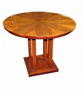 Art, Deco, Round, Side, Table
