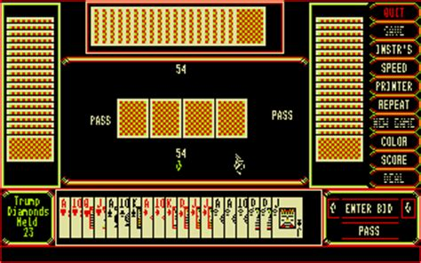 3 Handed Deck Pinochle atari st pinochle four handed deck scans dump