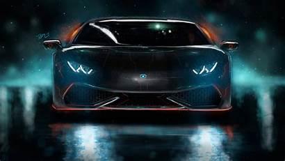 Lamborghini 4k Huracan Wallpapers Cgi Neon Custom