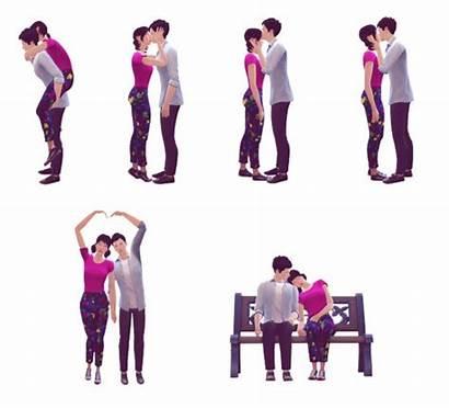 Poses Korean Drama Romantic Sims
