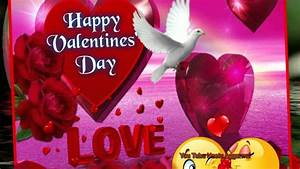 Happy Valentine's Day flying dove picture