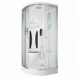 Cabine De Douche 170x80 : cabine int grale 1 4 de cercle aquatic lapeyre ~ Edinachiropracticcenter.com Idées de Décoration