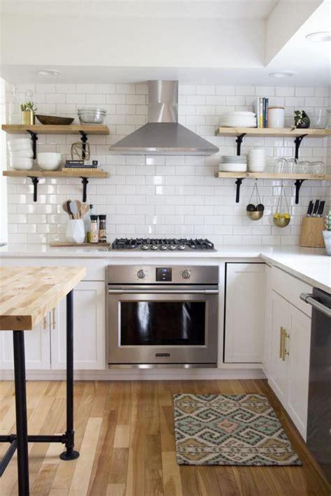 cuisine en l la cuisine blanche et bois en 102 photos inspirantes