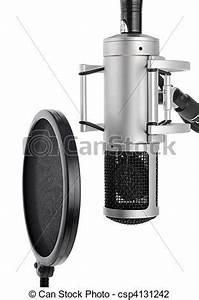Stock Photo of Studio microphone with pop filter - Vocal ...