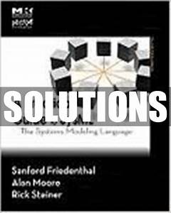 Only  22 Solutions Manual For A Practical Guide To Sysml
