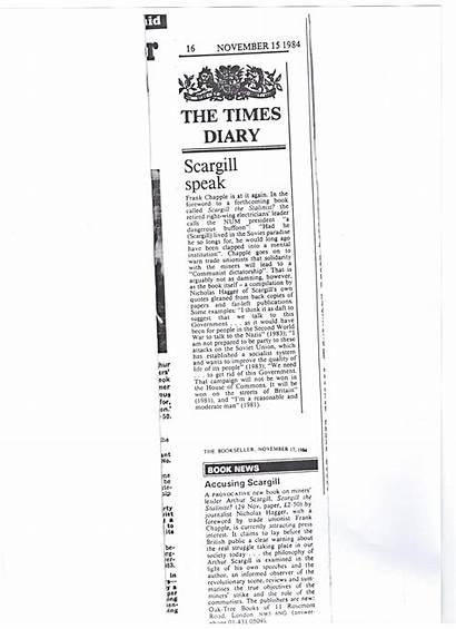 Scargill 1984 Hagger Nicholas Articles Bookseller Diary