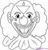 Clown Coloring Pages Scary Drawing Draw Evil Step Clowns Cartoon Joker Easy Faces Later Drawn Cry Template Drawings Face Sketch sketch template