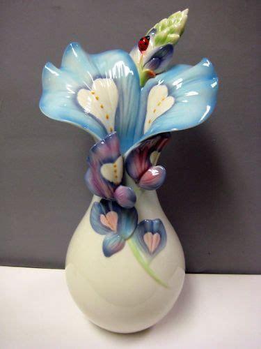 franz porcelain vase franz porcelain bluebonnets flower vase 2250 17 franz