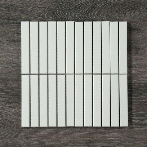 finger mosaic matt white mosaic decorator shop