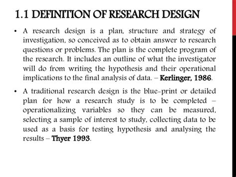 Design Definition by Research Design