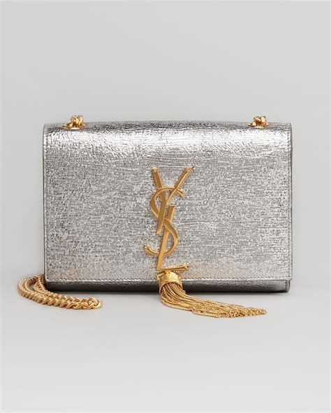 gold silver clutch laurent classic monogramme clutch bag reference