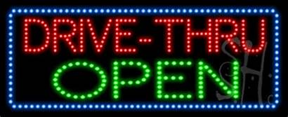 Drive Thru Open Led Animated Signs Neon