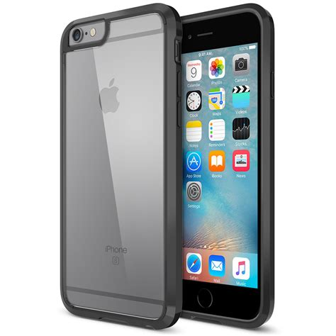 iphone 6 and iphone 6s trianium clear cushion for iphone 6s 6 jet black