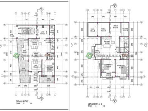desain rumah hook     dua lantai   balkon