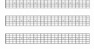 Printable Blank Guitar Neck Diagrams  Guitardiagrams