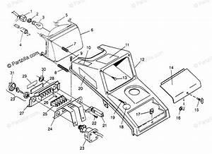 Polaris Atv 1994 Oem Parts Diagram For Headlight Assembly 4x4 400l