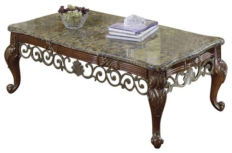marble top coffee table set homelegance barcelona 3 piece marble top coffee tables set