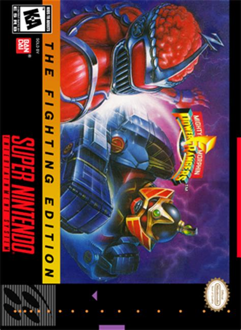 mighty morphin power rangers  fighting edition retro game cases