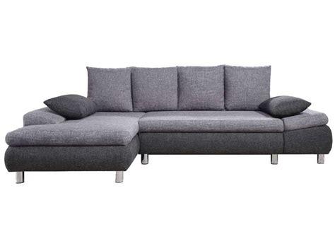 canapé d angle gris chiné canapé d 39 angle gauche convertible 5 places noah coloris