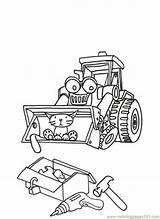 Builder Bob Scoop Coloring Printable Muck Cartoon Cartoons Coloringpages101 Colouring Coloringhome Pdf sketch template